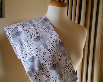 Handmade tea towel Elephant print cotton fabric Australian handmade Kitchen accessory