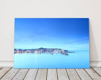 St Ives Cornwall modern . Sea and water.  Canvas Print beach seascape water. Ideal gift birthday present
