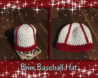Crochet baseball cap