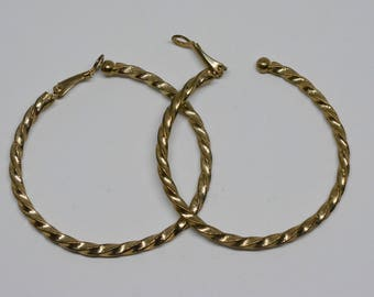 Lovely gold tone hoop earrings