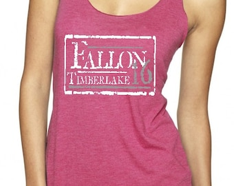 Gift, Fallon Timberlake 2016 '16 Ultra Soft Pink Tank Top Presidential Political Funny Election