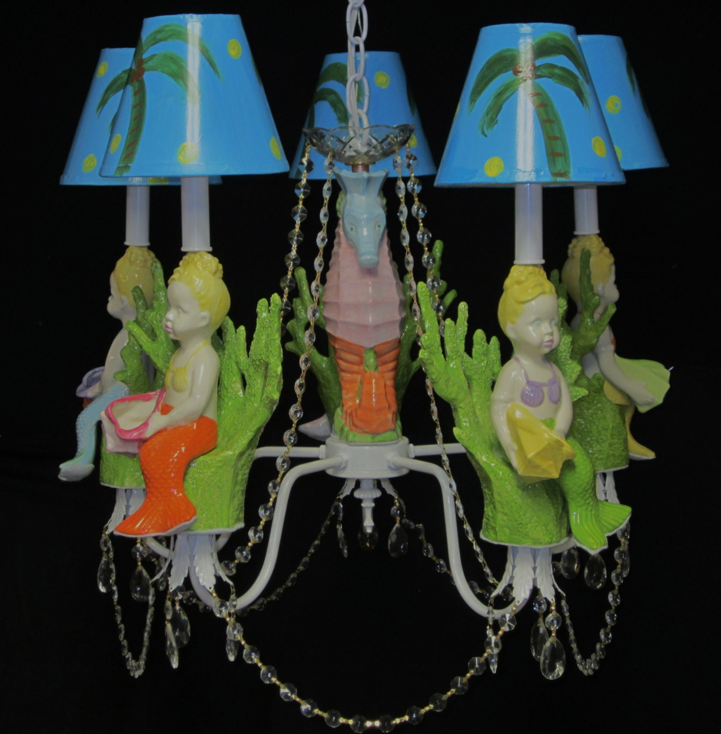 Mermaid chandelier girls room chandelier kids room lighting zoom arubaitofo Choice Image