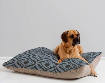 Stylish Dog Bed // Dog Bedding // Pet Pillow // Trevino Dusk Design // Midcentury Modern Pet // Dog Bed // Dog Pillow // Pet Cushion // Blue