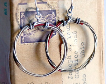 Strung-Out violin string hoop earrings
