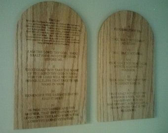 Ten Commandments Bible Verse Art 10 Commandments Wood Sign