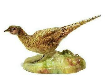 Vintage Pheasant Crown Staffordshire Porcelain Bird Figurine, Collectors figurine, J.T. Jones Hand painted Bird statue Bird lover gift