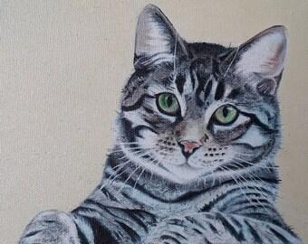 Inquisitive Tabby Cat print