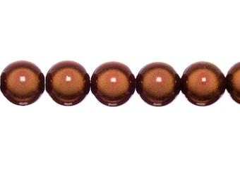 10 x 12mm - red magic round beads