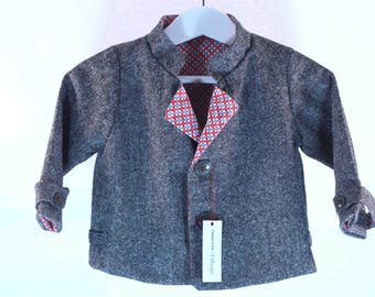 Baby boy jacket / / gray Tweed
