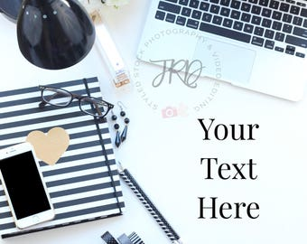 Styled Stock Photo | Black and White Desktop Scene | For Blogs, Brands and Businesses | Headers Instagram and Pinterest