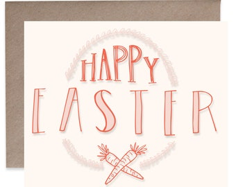 Easter Card - Happy Easter - Easter Greeting - Greeting Card - Letter Press Card - Easter Gift - Easter Hostess Gift - Thank You Cards