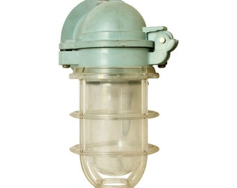 Single blueish green nautical sconce