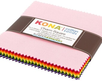 Kona Cotton Solids Charm Pack - 5 inch Squares - Designed by Annie Smith for Robert Kaufman