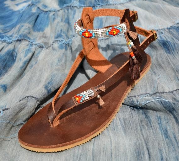 Women Sandal Womens Gladiator Sandals Beaded Sandals Sandals Sandals Sandals Leather Sandals Hippie Sandals Boho Womens Greek Handmade nqfwUYgFU