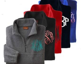 Monogrammed Half-zip pullover jacket-monogram included