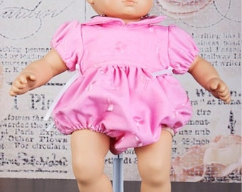 Doll Romper pattern - Mini Vintage Baby Romper PDF pattern - 15 and 18 inch