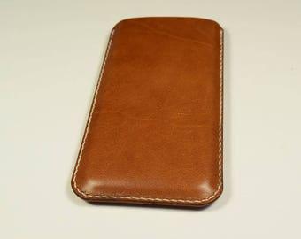 iPhone 8 Plus Kangaroo Leather Sleeve/Case/Cover, Personalized, Slim, iPhone leather Cover, iPhone Leather Case, iPhone Leather Sleeve