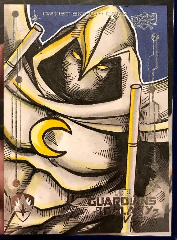 Moon Knight Original Artist Sketch Card: Guardians of the Galaxy Volume 2, Upperdeck
