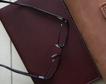 Leather Moleskine Cover (Burgundy)