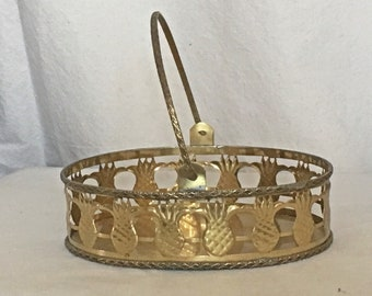 Brass Pineapple Basket Brass Pineapple Centerpiece Hampton Brass