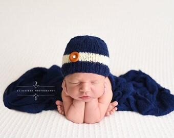 Navy Blue Stretch Knit Wrap Newborn Photography Prop