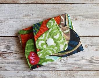 Card wallet | card holder | travel wallet | loyalty card keeper | minimalist wallet | credit card case | flowers