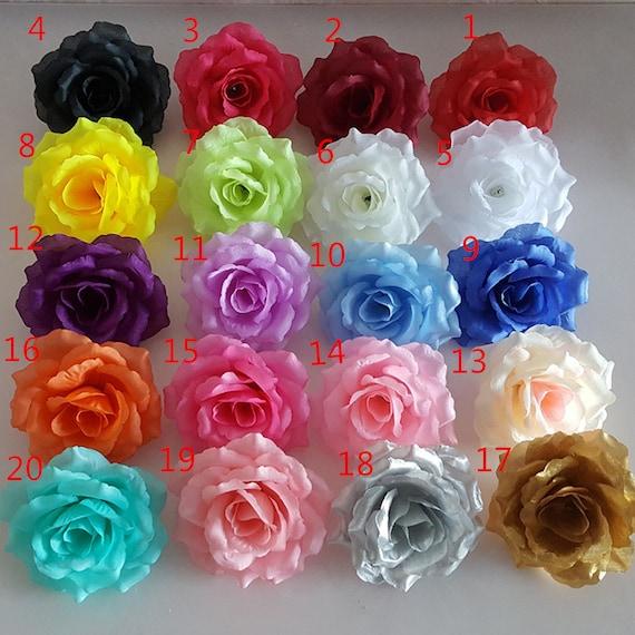Silk Flower Heads Wholesale Silk Roses Heads 100 Flowers 10cm For ...