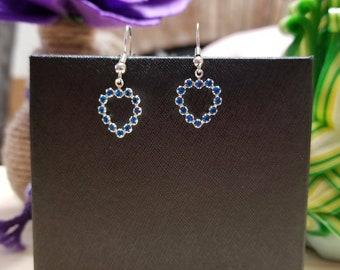 Capri Blue Heart Earrings
