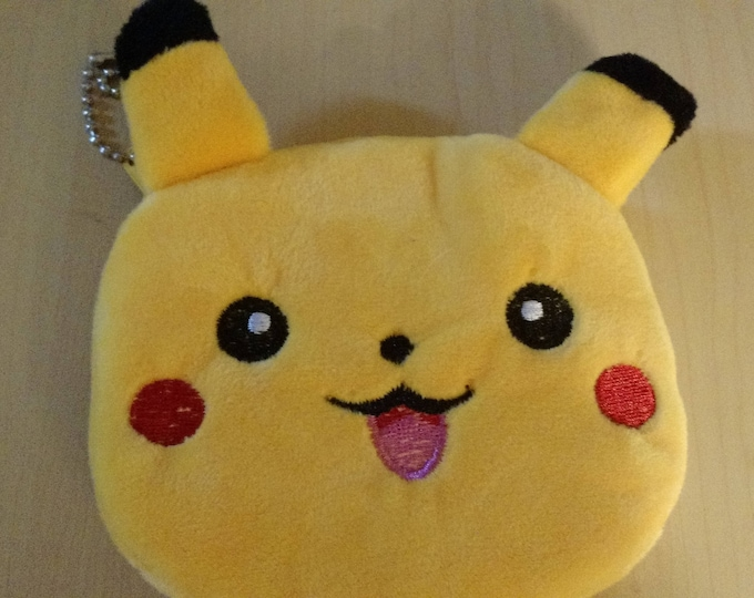 4.5 inch Plush Pikachu Zippered Coin Purse