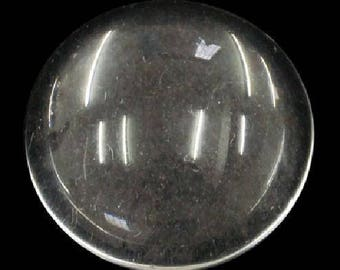 10 glass cabochons 14 mm magnifying effect