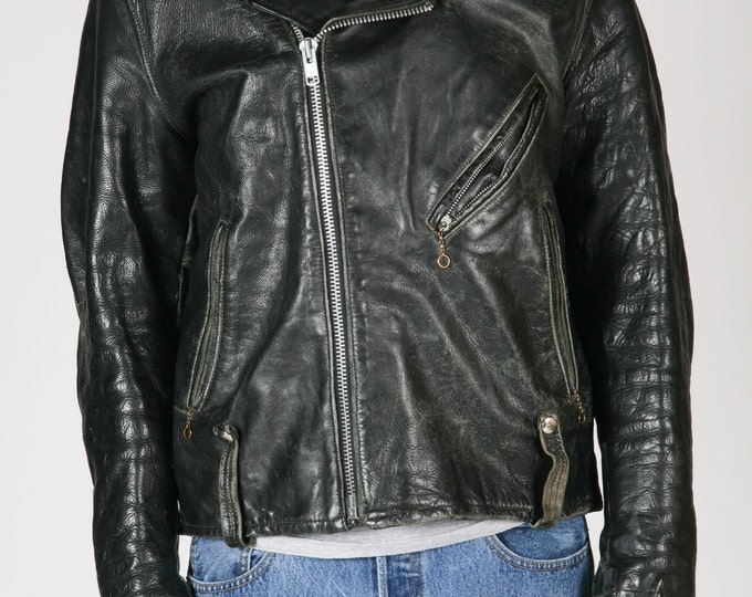 Distressed Vintage Harley Leather Jacket