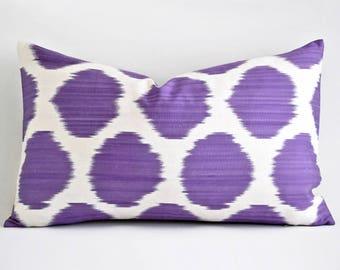 Purple Ikat Pillow Etsy