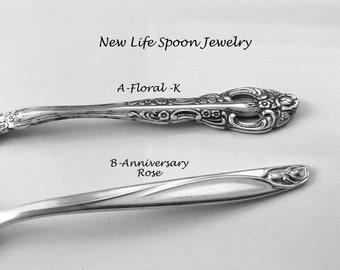 "Spoon Bracelet ""Choose Your Pattern"" Handmade Jewelry Silver Bracelet Spoon Jewelry Antique Jewelry Handmade Christmas Gift Fork Jewelry-6"
