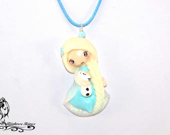 Polymer clay Elsa necklace