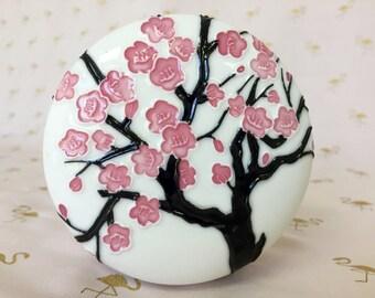 Cherry Blossom Porcelain Keepsake Jar
