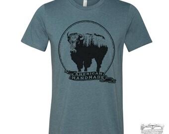 Men's BISON American Handmade  Unisex T Shirt [ xs s m l xl xxl xxxl ] + Colors custom