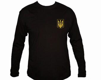 Ukrainian Flag Tryzub black long sleeves t-shirt S/M/L/XL/2XL