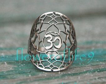 7th Chakra ring - Stainless Steel
