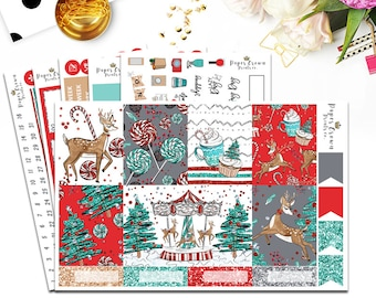 ENCHANTED CHRISTMAS Planner Stickers Planner Stickers for the Erin Condren Planner/Winter Weekly Planner Sticker Kit/Sticker Set/Functional