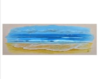 Painting, painting, painting sea painting ocean painting ocean beach on canvas