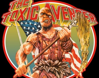 80's Troma Cult Classic The Toxic Avenger Poster Art custom tee Any Size Any Color