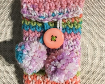 Colorful Pom Pom Phone Pouch