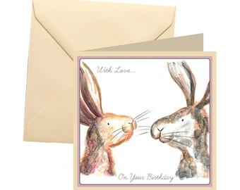 Rabbit Birthday Card Blank