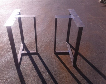 Industrial Steel T Box Style Metal Table/Desk Legs   Any Size/Color!!
