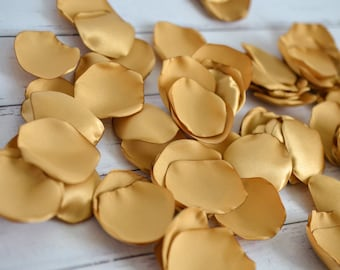 ANTIQUE GOLD satin rose petals, flower girl basket petals, aisle decor, table scatter, vase filler, ready to ship