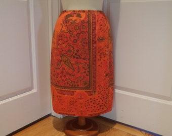 ON SALE  Vintage 1970's  Hungry Palette Skirt  Rare