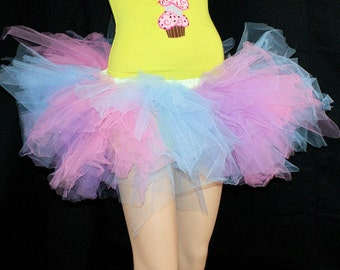 Pastel Pink and Blue Cotton Candy Super Fluff TuTu MTCoffinz ---All Adult Sizes