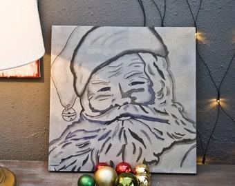 Little Santa Portrait/Acrylic on canvas