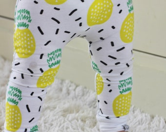 Baby Leggings | Baby Girl Leggings | Pineapple Leggings | Gender Neutral Baby Clothes | Baby Girl, Baby Pants, Tropical, Pineapple, Leggings
