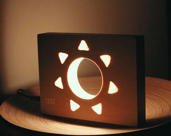 Wooden Night Lamp Sun | Night Light | LED Lamp |